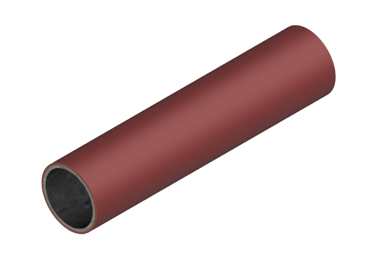 M-Rohr 1 mm rot