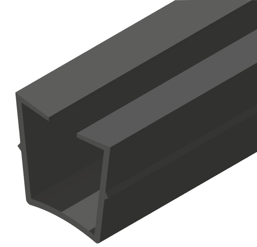 Abdeck- und Einfassprofil, schwarz-10