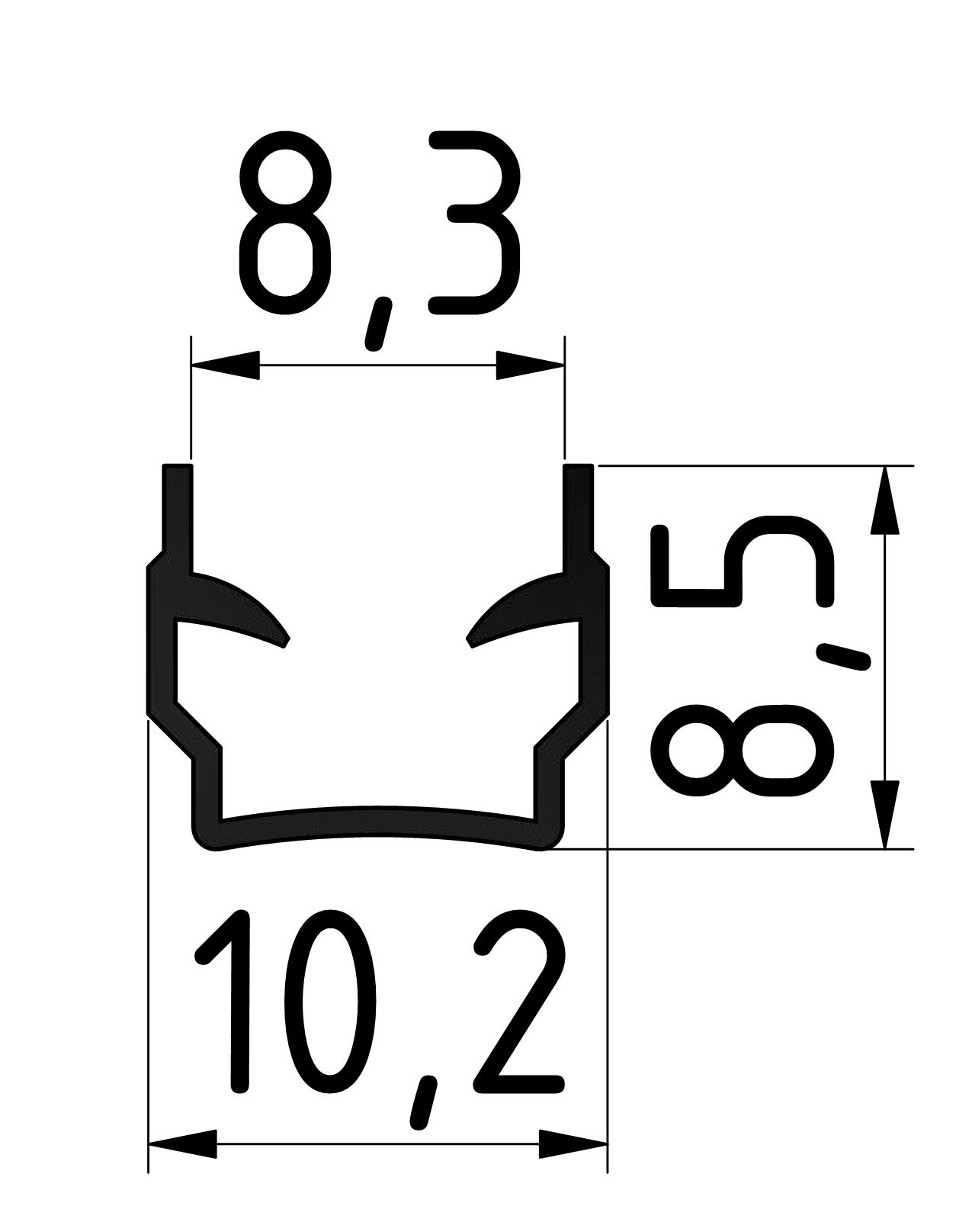 Abdeck - und Einfassprofil, schwarz-8