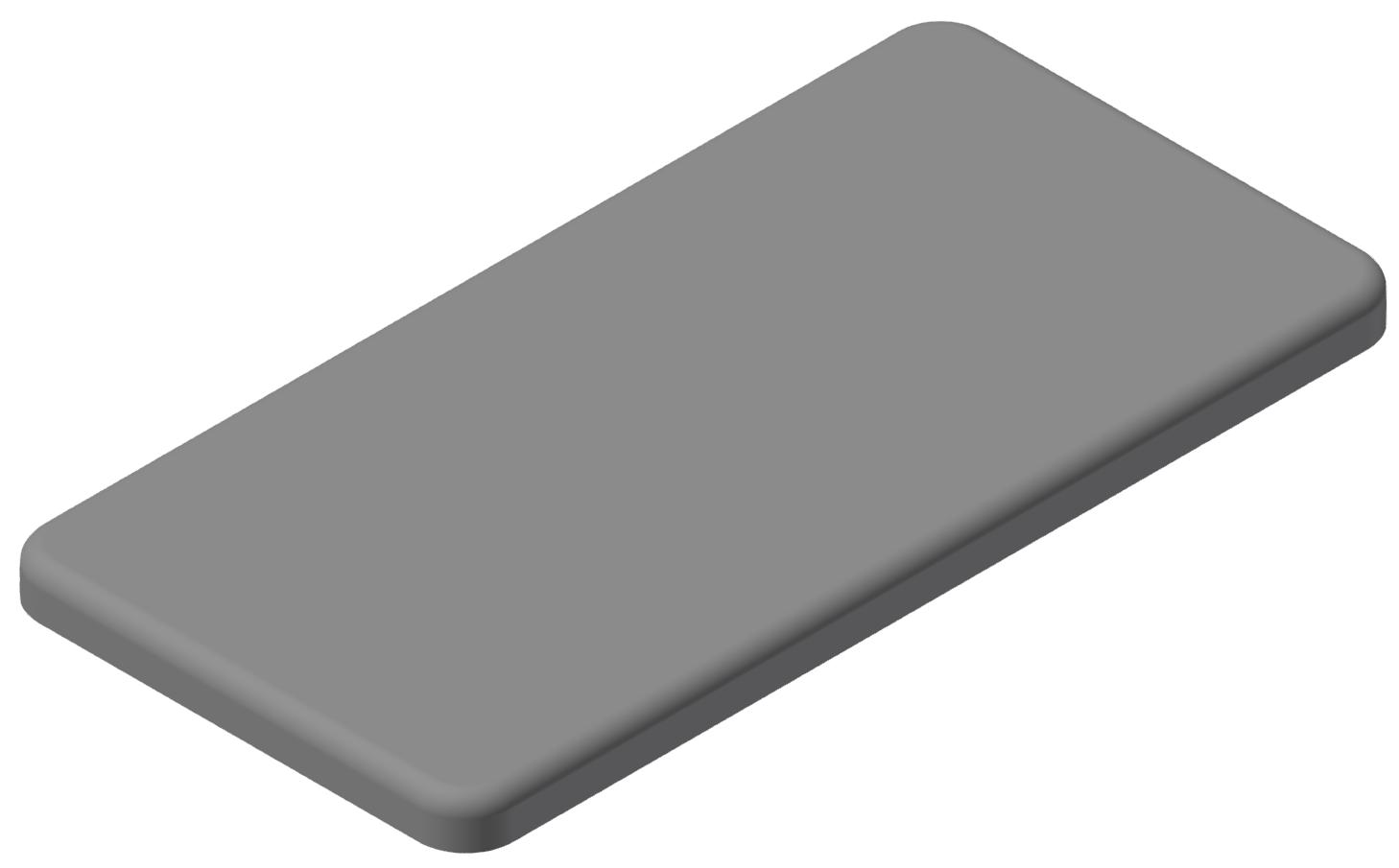 Abdeckkappe 40x80, grau-10