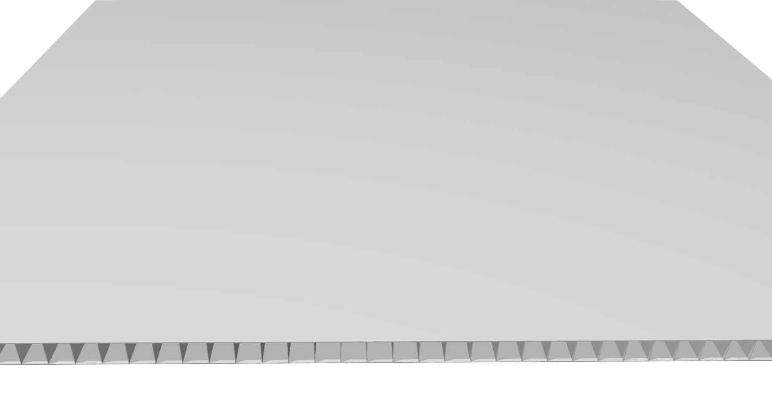 Stegplatte 4,5 mm PP, weiß