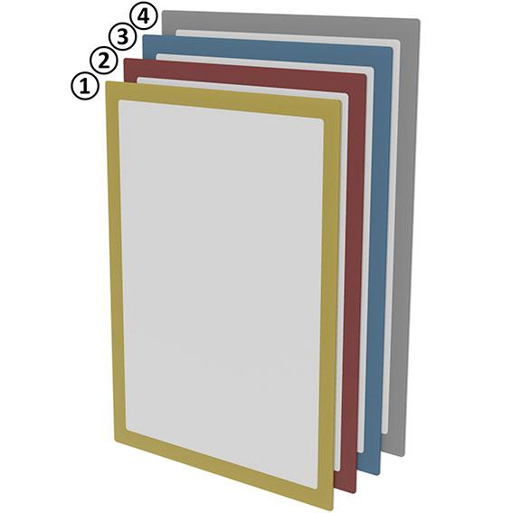 Magnetisches Dokumentenfenster DIN A4 - rot