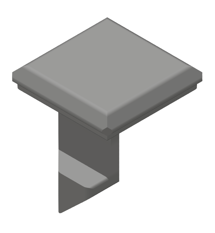 Klipp 8 Kanalprofil K, grau ähnlich RAL 7042