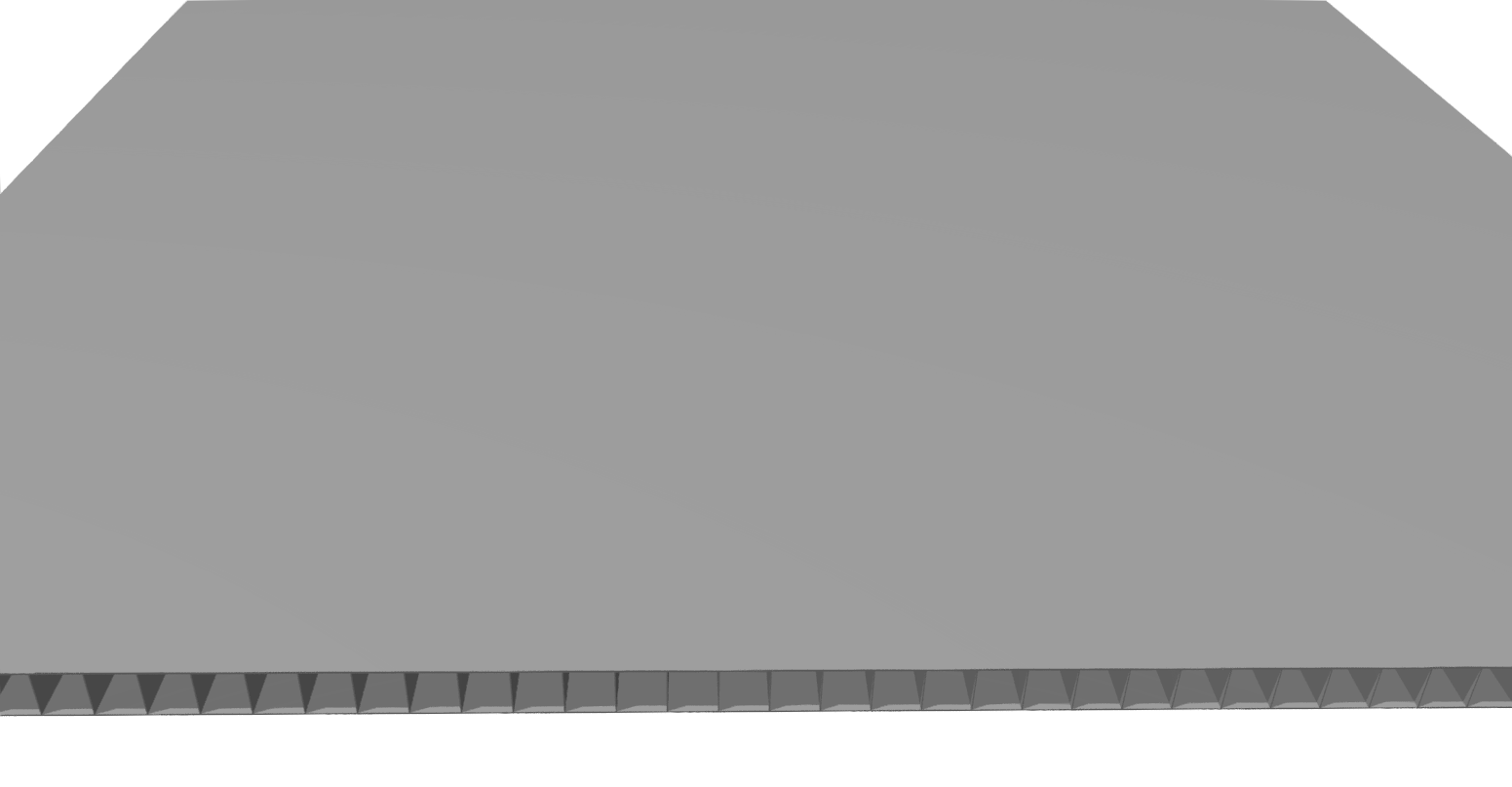 Stegplatte 4,5 mm PP, grau