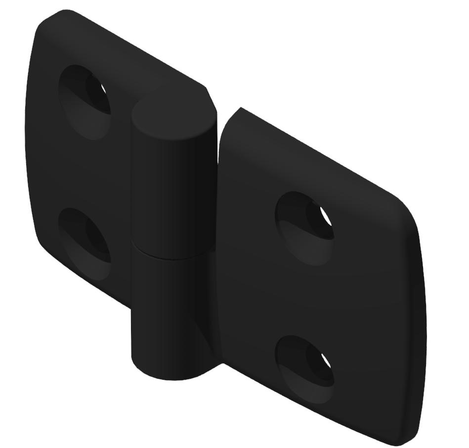 Kombischarnier links 40x50 PA, schwarz -10
