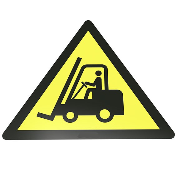Warnung vor Flurförderzeugen Bodenschild