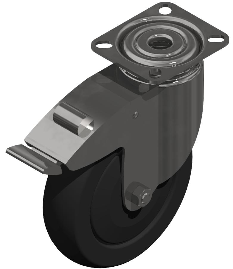 Lenkrolle D125 schwer 100x85 ESD, verzinkt-8