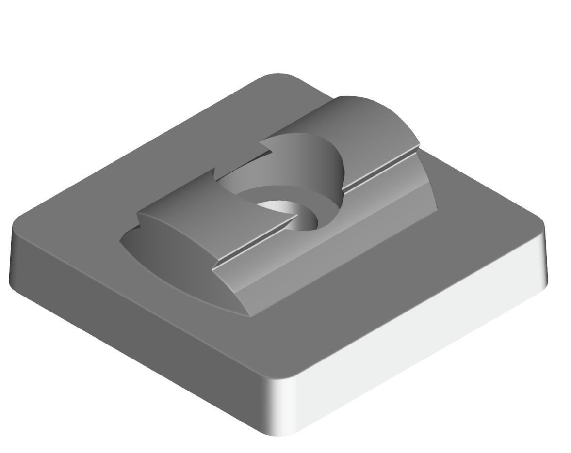 Set Adapterplatte 45x45 D28