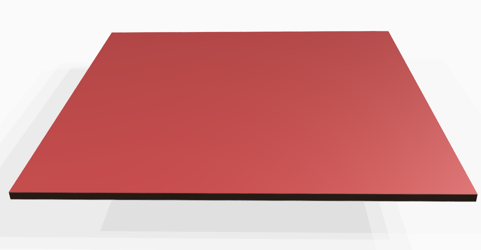 Vollkunststoff 4 mm ähnlich RAL 3000, rot
