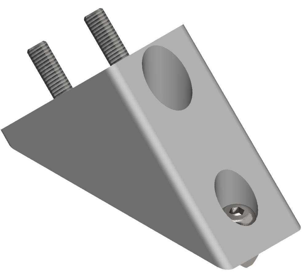 Winkelverbindersatz 40/80 45°, weißaluminium-8