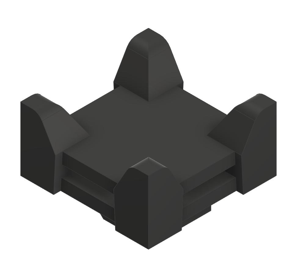 Kreuz Kabelbinderblock PA, schwarz-8