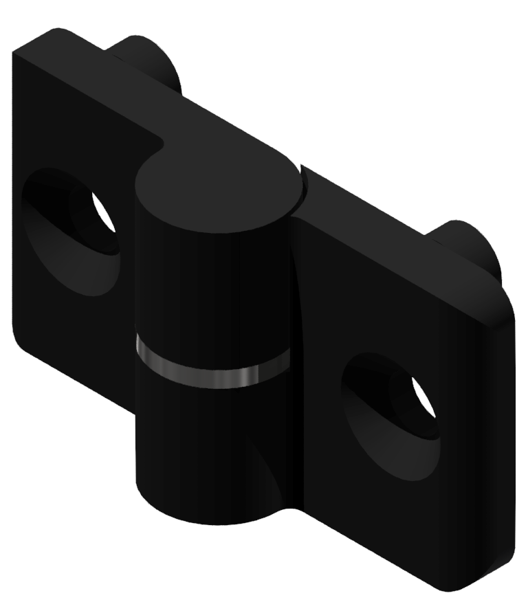 Scharnier 8 PA, rechts, schwarz