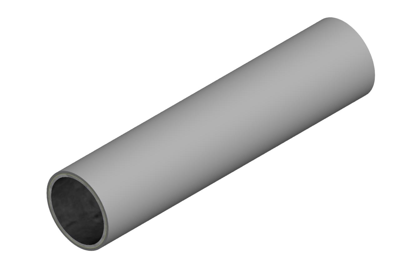 M-Rohr 1 mm tiefgrau