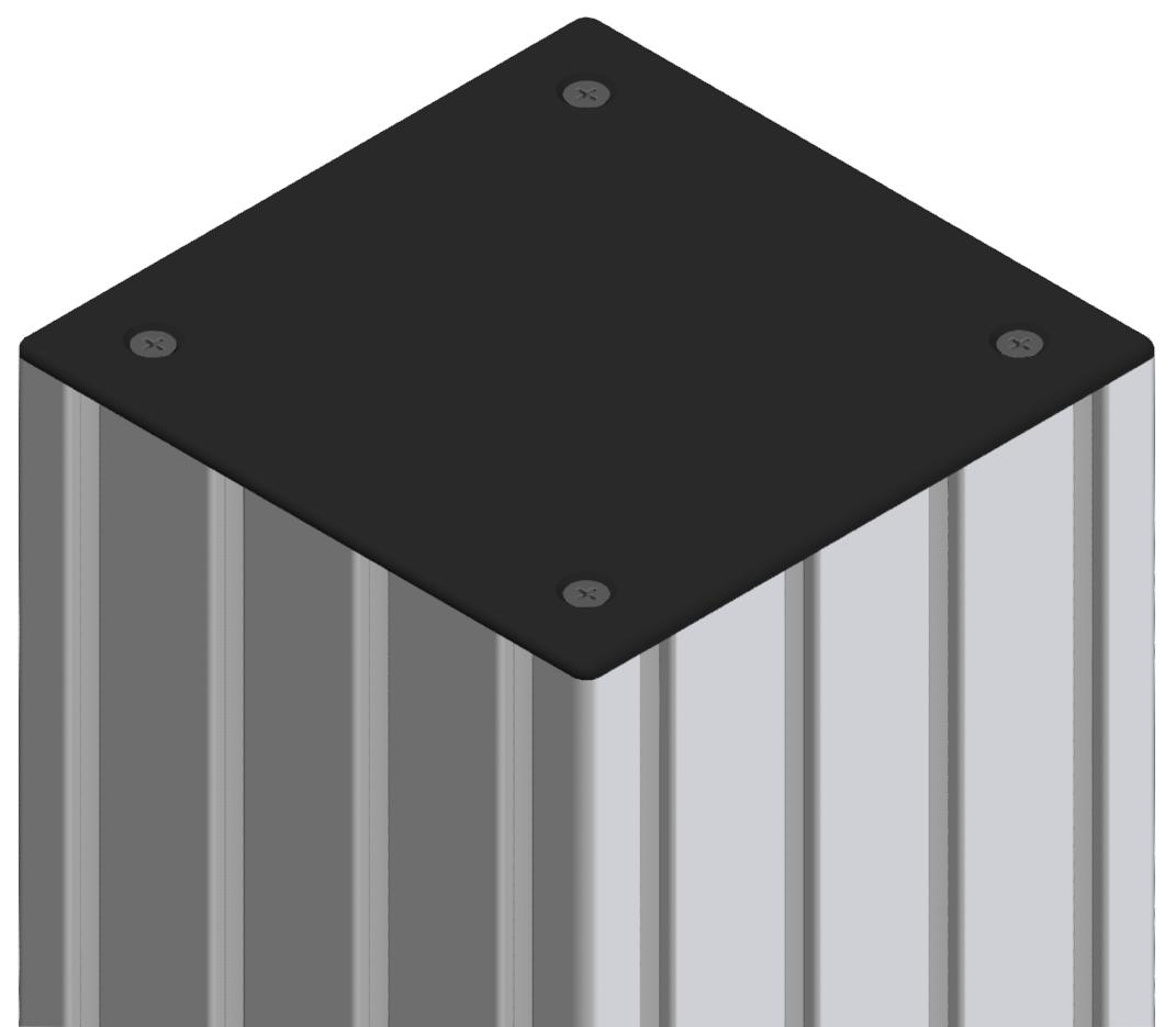 Abdeckkappe 160x160, schwarz-8
