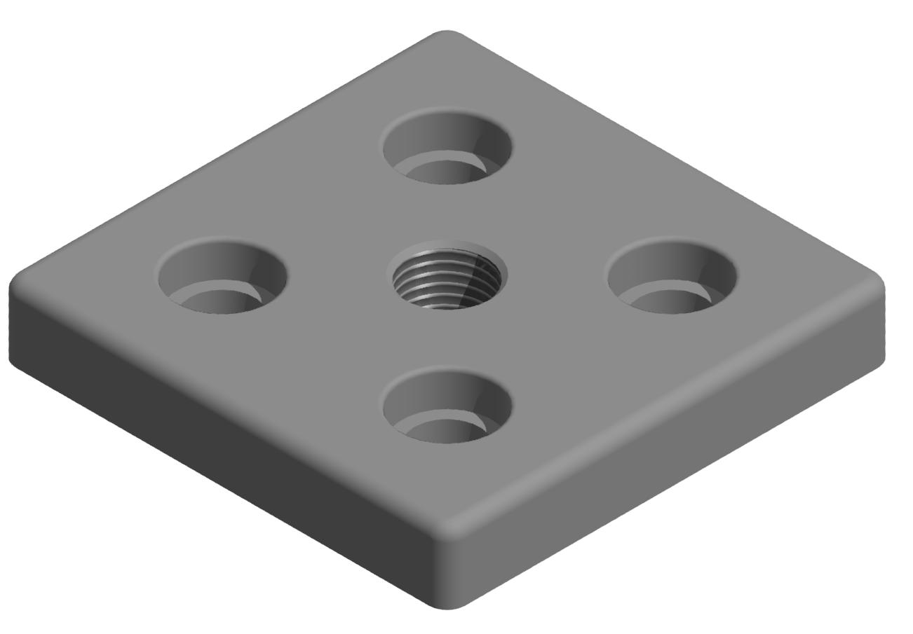 Fußplatte 100x100 M20 - 10