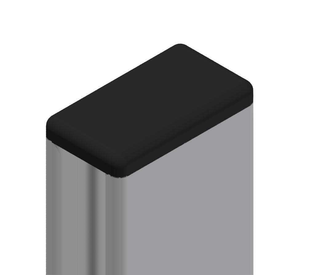 Abdeckkappe 18x32, schwarz-8