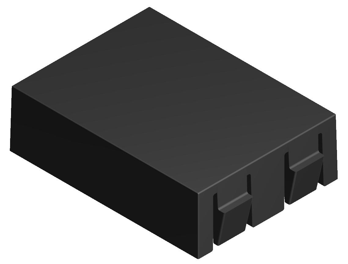Distanzstück L25, schwarz - Alu