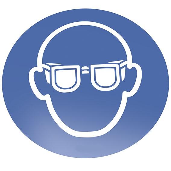 Augenschutz benutzen Bodenschild