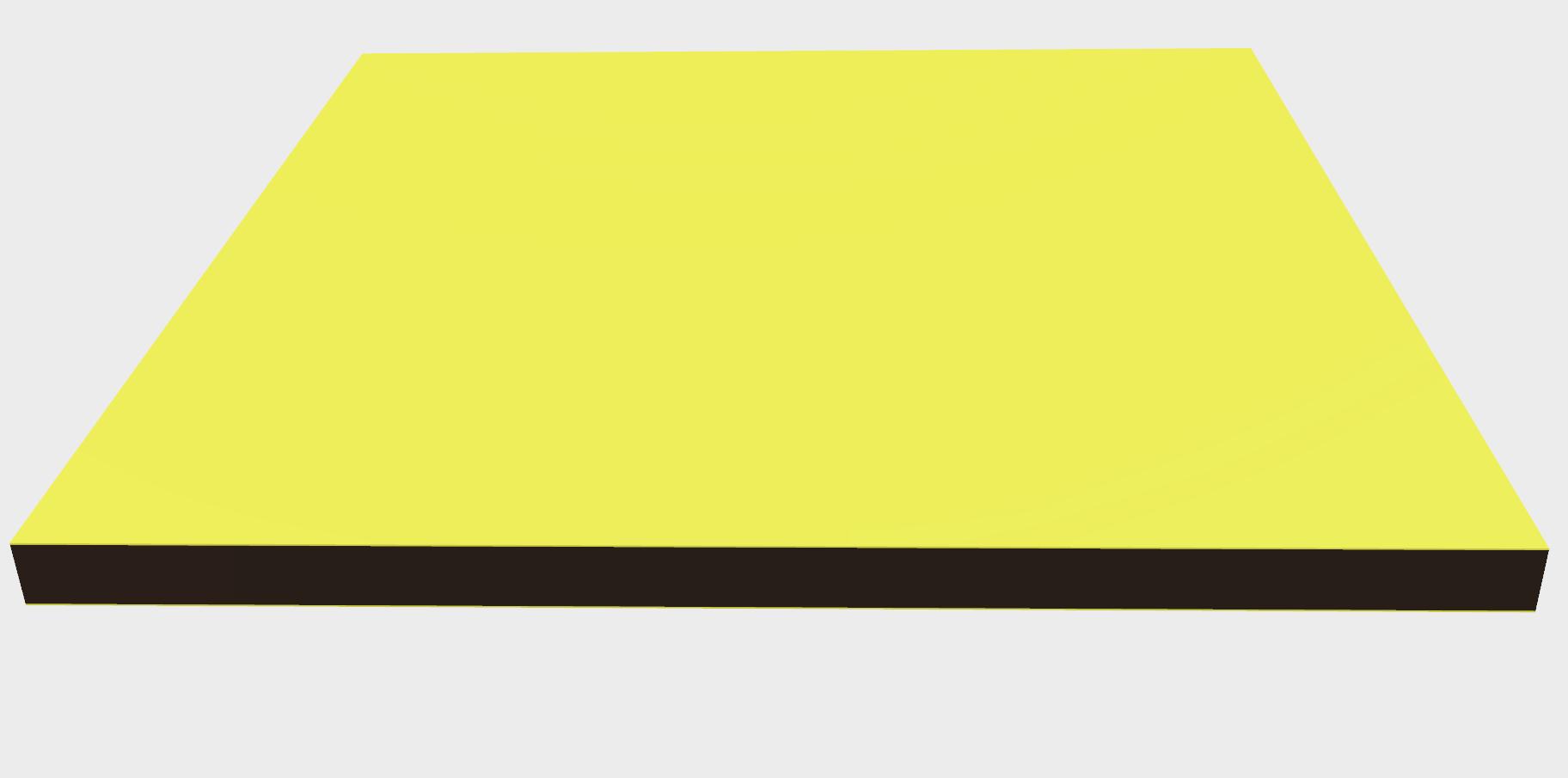 Vollkunststoff 10 mm ähnlich RAL 1034, gelb
